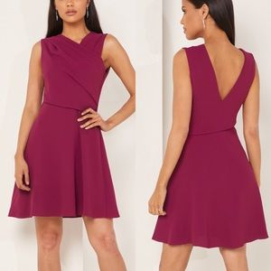 🆕 REISS Marianne wrap-front crepe mini in Cherry